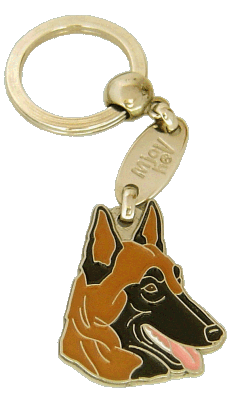 BELGIAN SHEPHERD, MALINOIS - pet ID tag, dog ID tags, pet tags, personalized pet tags MjavHov - engraved pet tags online